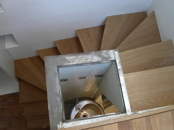 Amibois ame nagement triplex paris 6e me - Escalier avec tiroirs de rangements ...