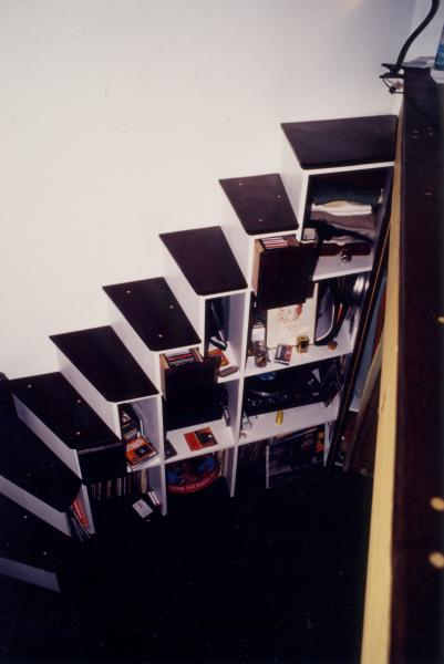 Amibois escalier ame nage en wengue for Escalier escamotable mezzanine